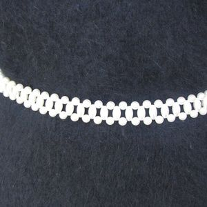 Double Layer Pearl Belt w/ Gold Chain Dangle